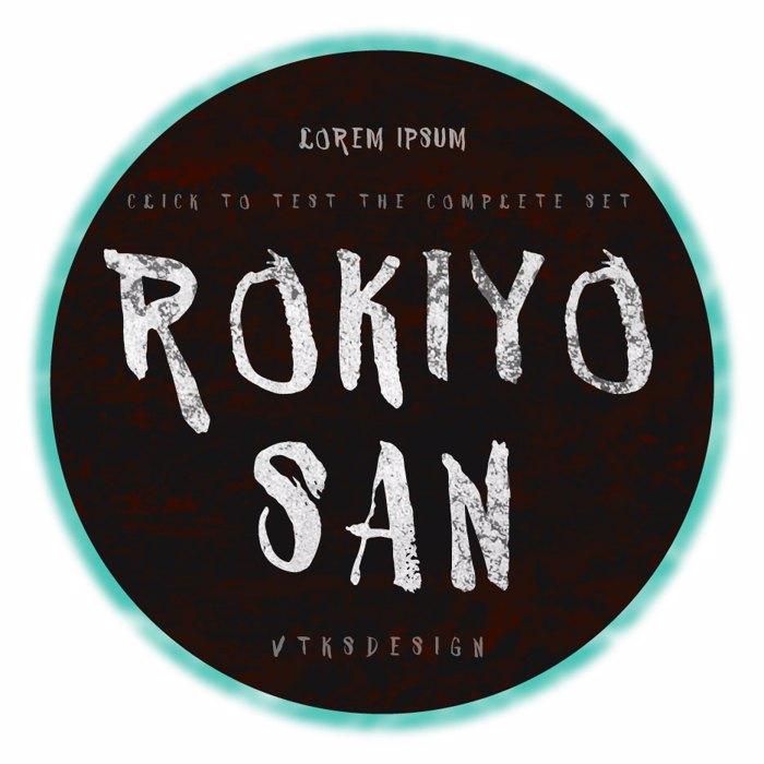 VTKS ROKIYOSAN Font poster