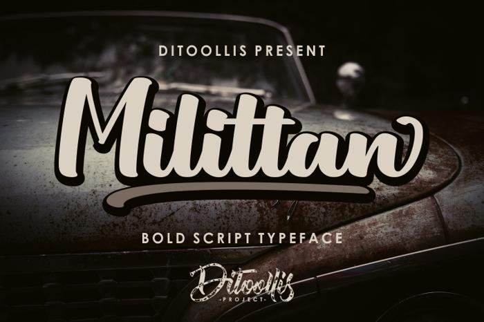 Milittan Font poster