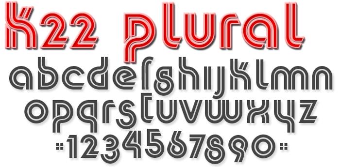 K22 Plural Font poster