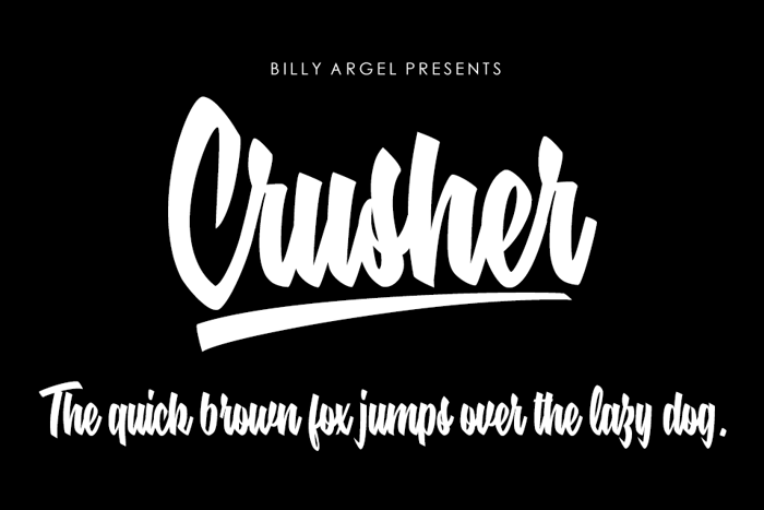 Crusher Font poster