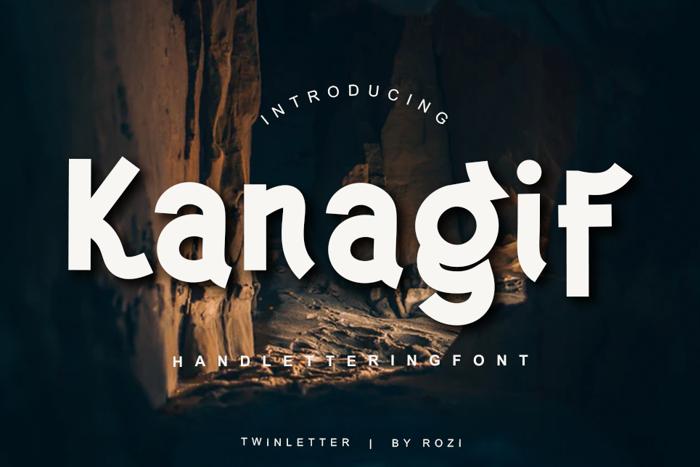 Kanagif Font poster