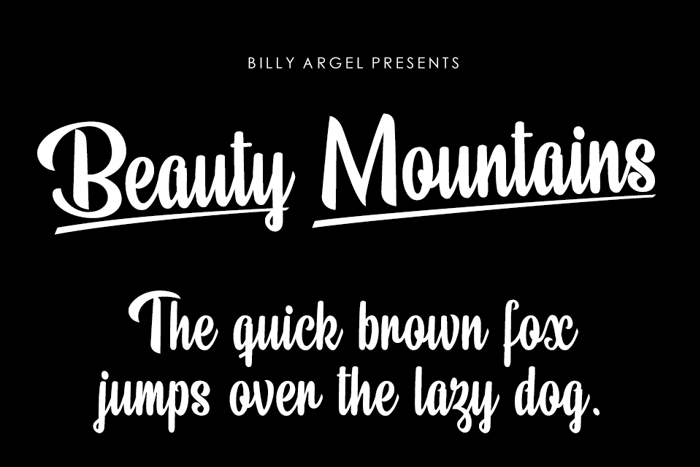Beauty Mountains Font poster