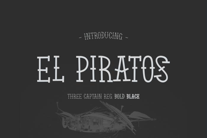 El Piratos Font poster