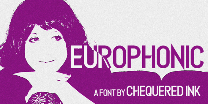 Europhonic Font poster