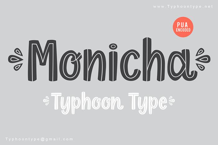 Monicha - Font poster
