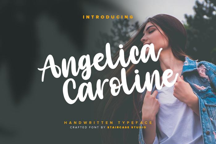 Angelica Caroline Font poster