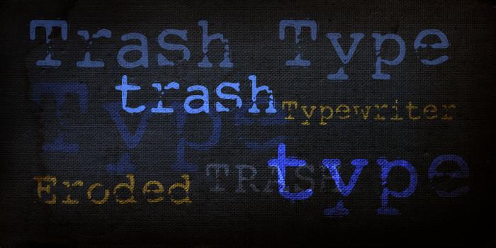 DK Trashtype Font poster