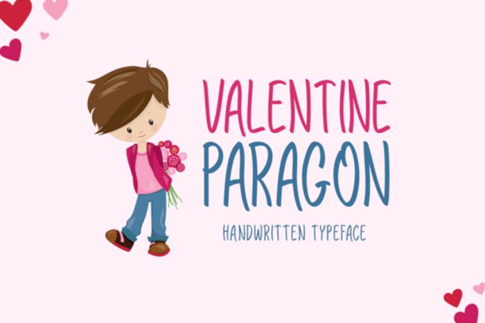 Valentine Paragon Font poster
