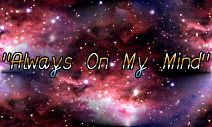 Always On My Mind Font poster