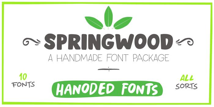 Springwood DEMO Font poster