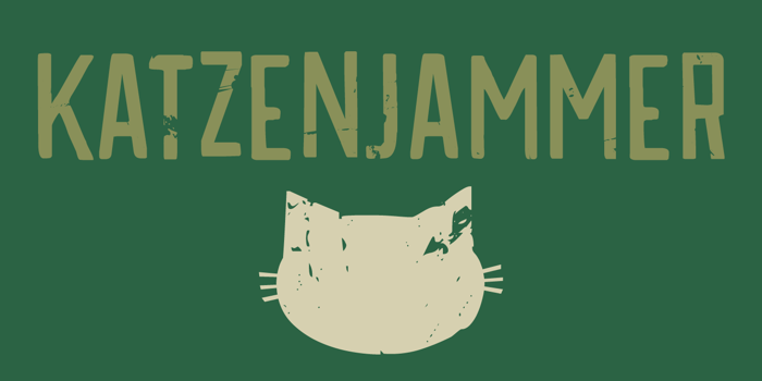 DK Katzenjammer Font poster