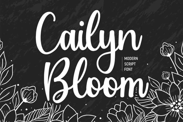 Cailyn Bloom Font poster