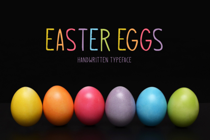 Easter Eggs Font poster