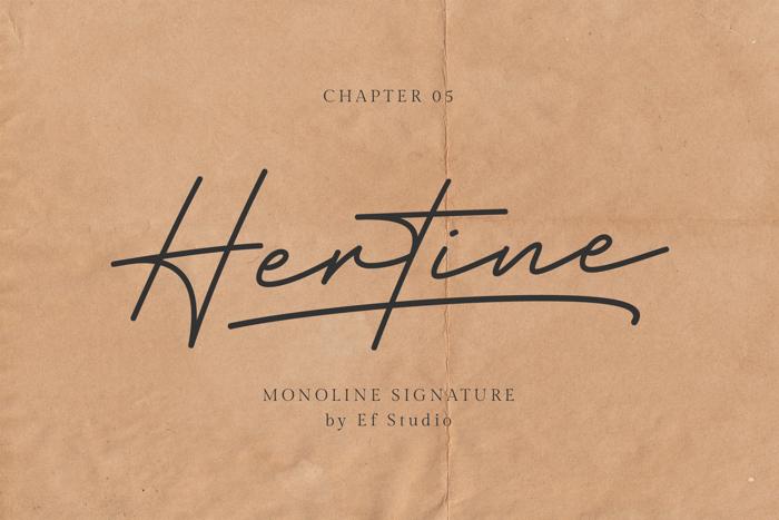 Hertine Font poster