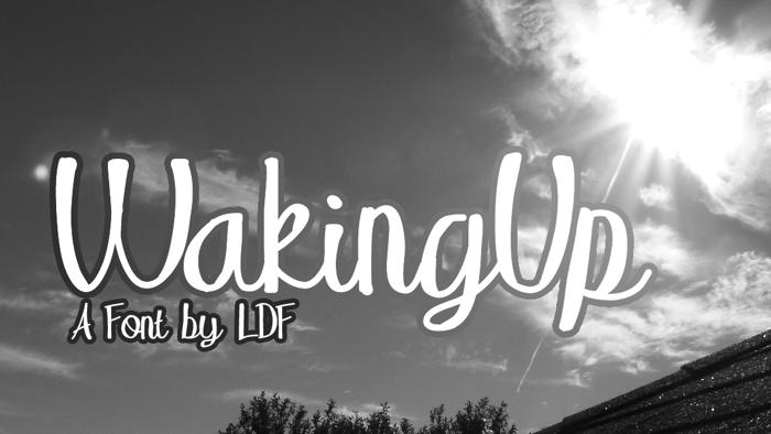 WakingUp Font poster