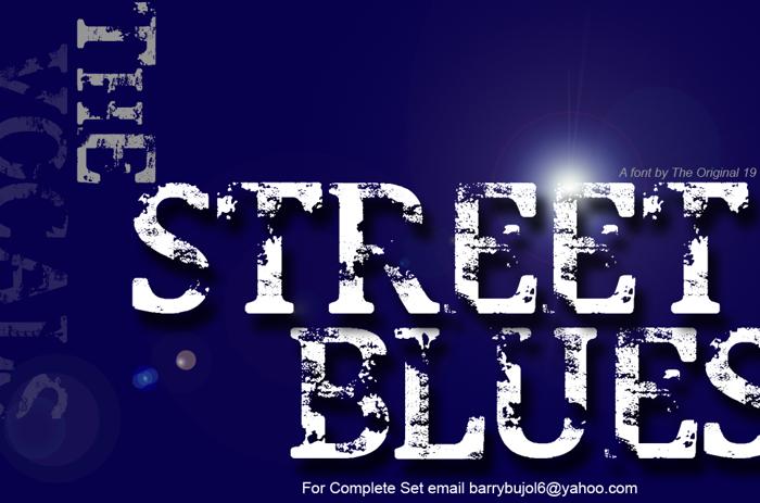 Street Blues Font poster