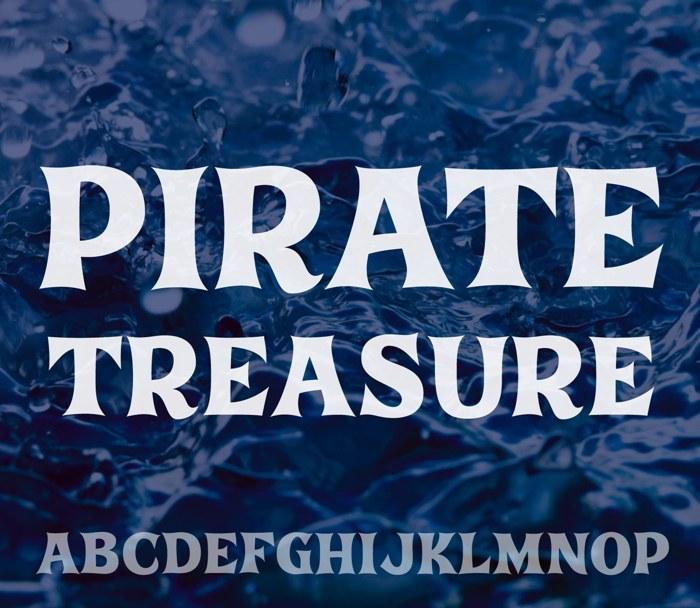Pirate Treasure Font poster