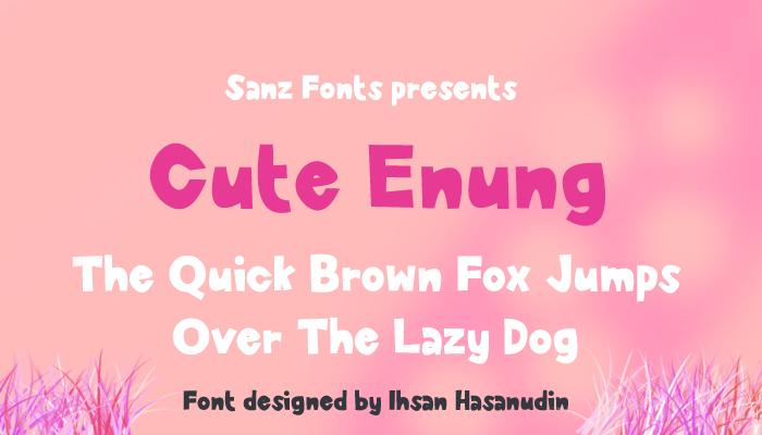 Cute Enung Font poster