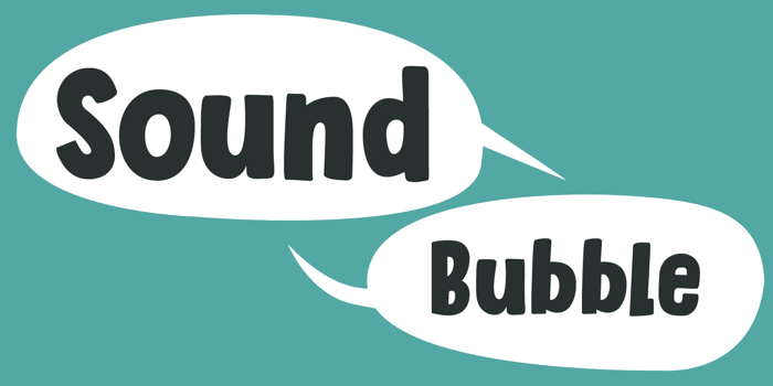 Sound Bubble Font poster