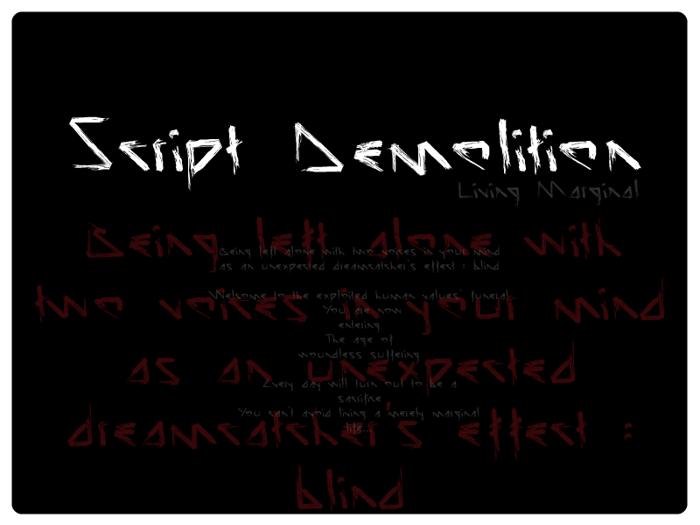 Script Demolition Font poster