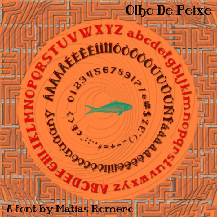 Olho De Peixe Font poster