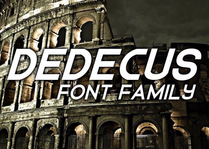 Dedecus Font poster