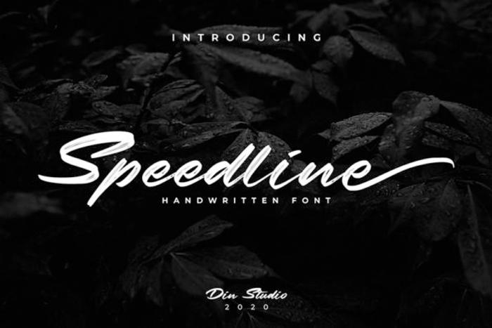 Speedline Font poster