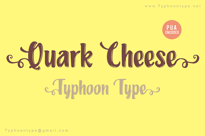 Quark Cheese Font poster