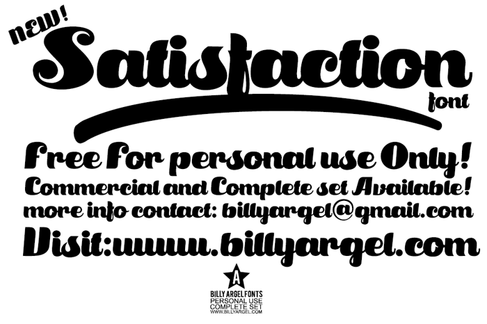 Satisfaction Font poster