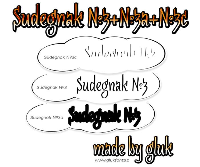 SudegnakNo3 Font poster