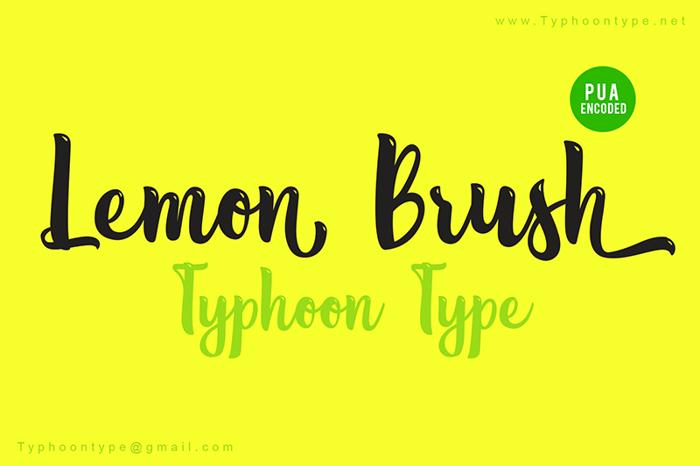 Lemon Brush Font poster