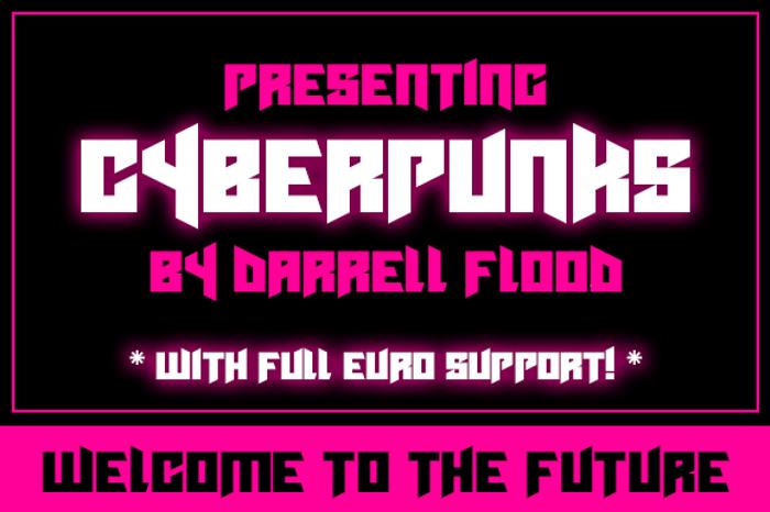 Cyberpunks Font poster