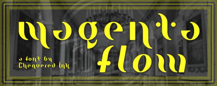 Magenta Flow Font poster