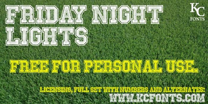 Friday Night Lights Font poster