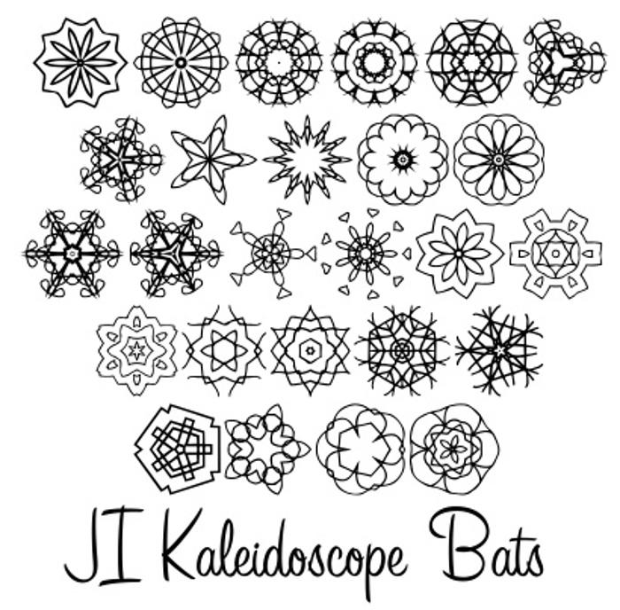 JI Kaleidoscope Bats Font poster