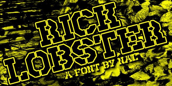 Rick Lobster Font poster