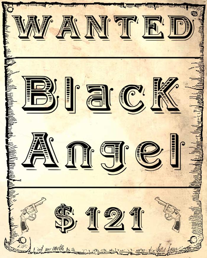 BlackAngel Font poster