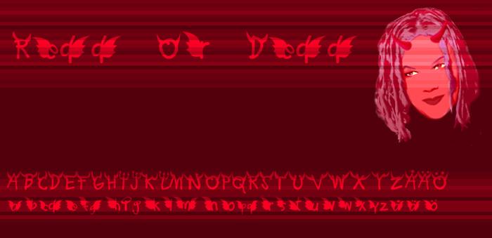 Redd or dedd Font poster