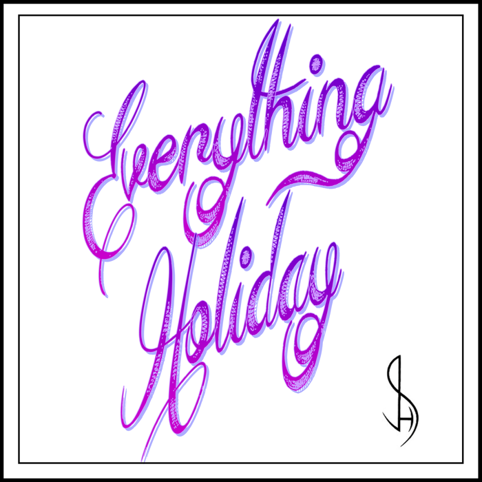 Everything Holiday Font poster