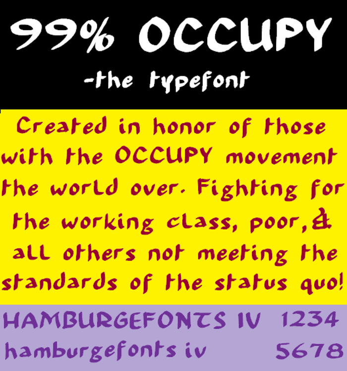 99 % OCCUPY Font poster