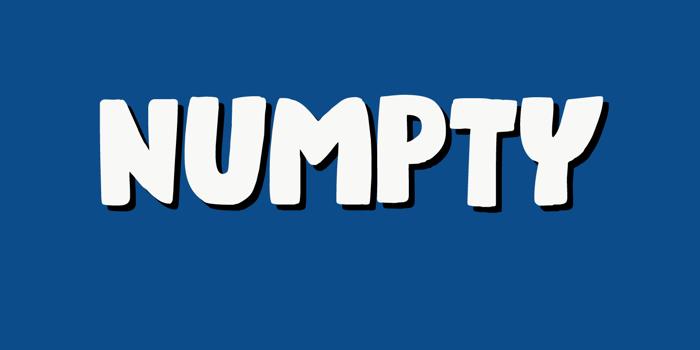 Numpty Font poster