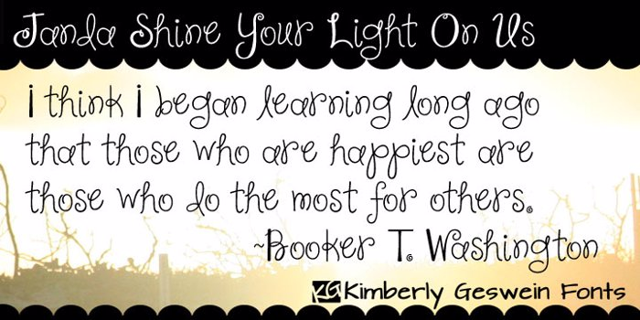 Janda Shine Your Light On Us Font