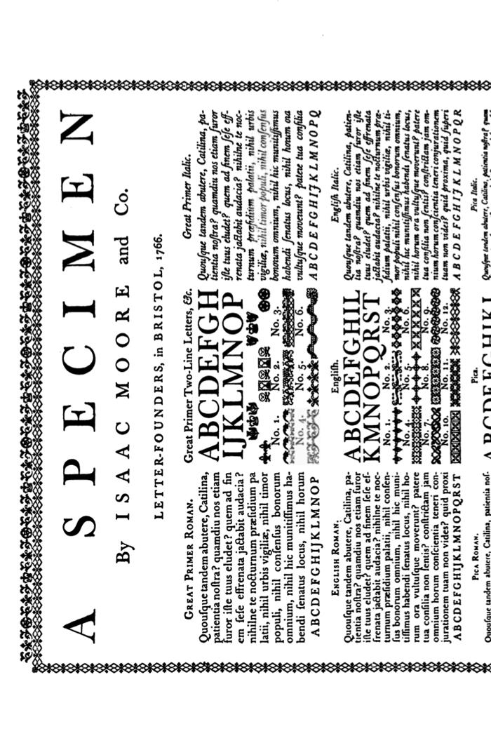 Open Baskerville Font poster