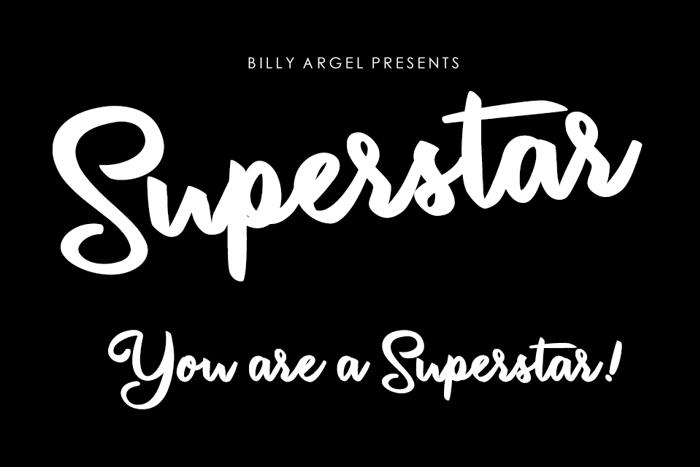Superstar Font poster