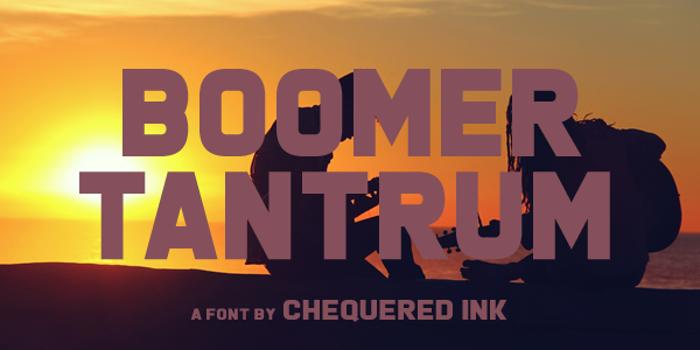 Boomer Tantrum Font poster