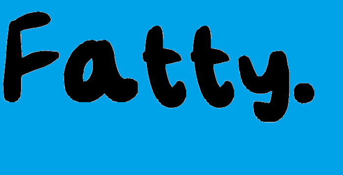 Fatty Font poster