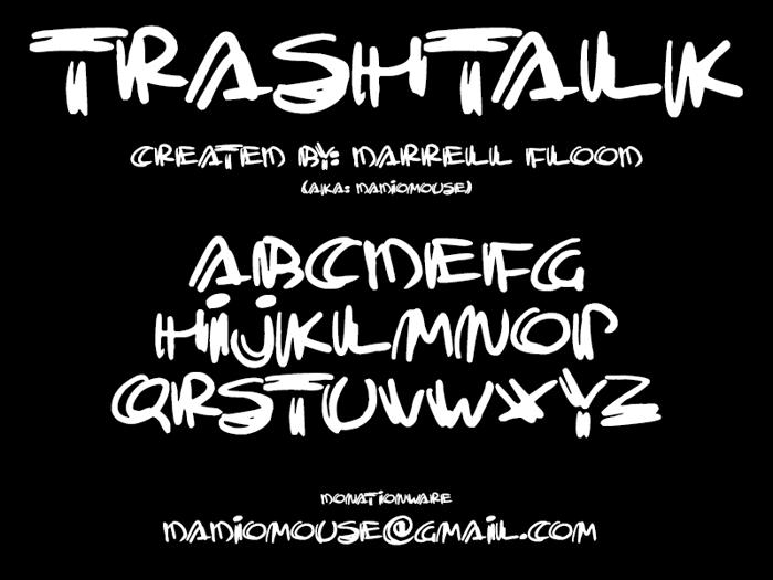 Trashtalk Font poster