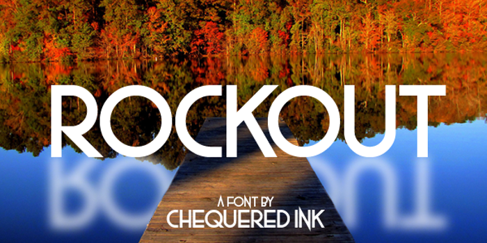 Rockout Font poster