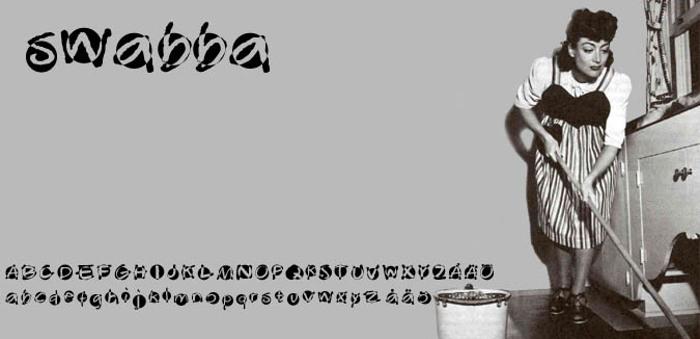 Swabba  Font poster