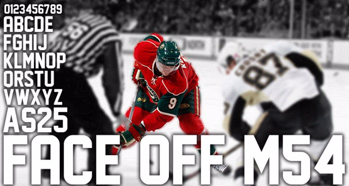Face Off M54 Font poster